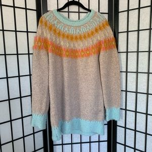 Anthropologie Sweaters - Anthro Sleeping on Snow Fuzzy Sweater